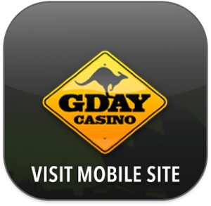 G'day Casino mobile