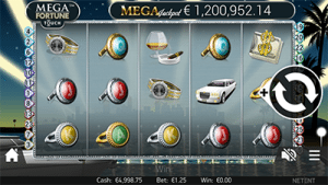 Mega Fortune mobile pokies screenshot