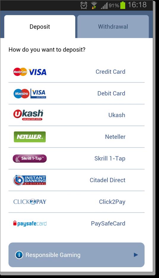 Mobile Casino Cashier