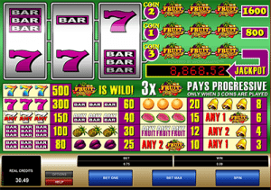Fruit Fiesta three reel slot