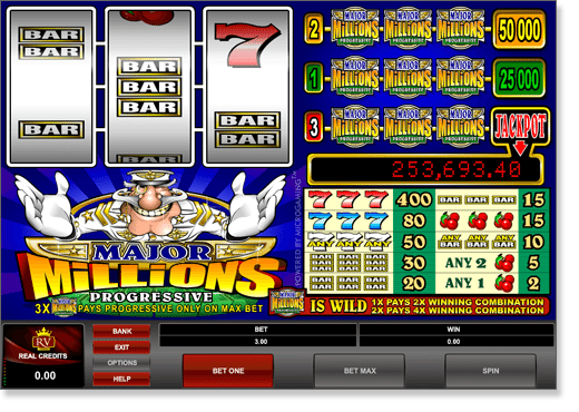 Play Major Millions 3 Reel Slot