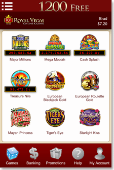 Royal Vegas iOS App Games