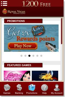 Royal Vegas iOS App Promotions