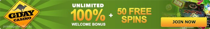 G'Day Casino pokies bonuses and promotions