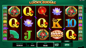 Lucky Zodiac pokies screenshot
