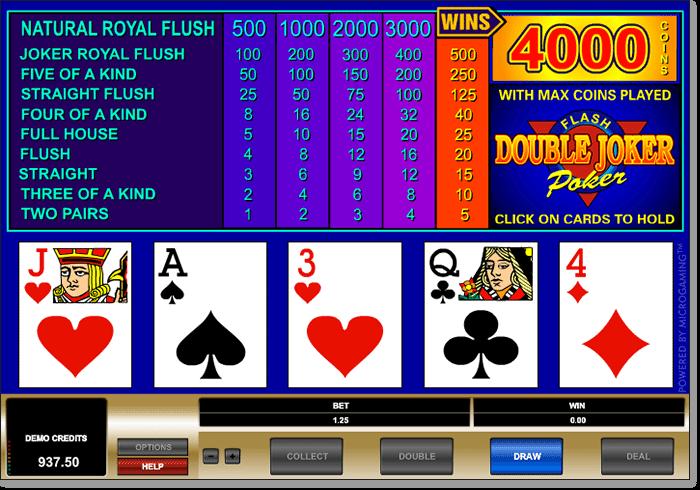 Online Double Joker Poker