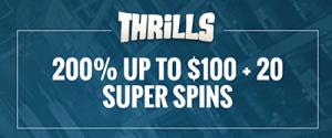 Thrills welcome bonus