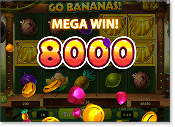 Go Bananas Mega Win