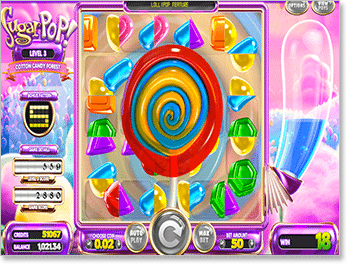 Special Lollipop Feature on SugarPop Pokie
