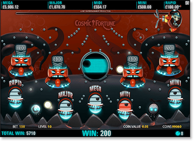 Cosmic Fortune Jackpot Game