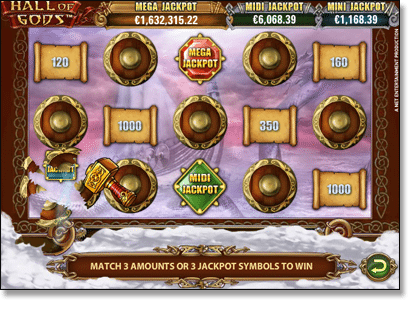 Hall of Gods Jackpot Bonus Round