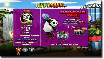 Pandamania Real Money Slots at Thrills