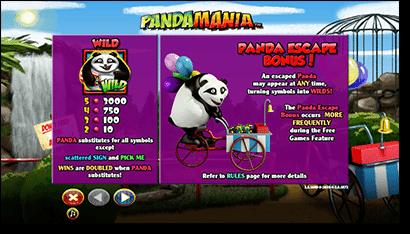 Pandamania Real Money Slots at Thrills