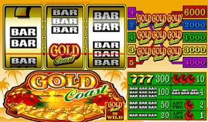 Gold Coast 3-reel pokies