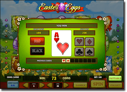 Easter Eggs online pokie gamble feature