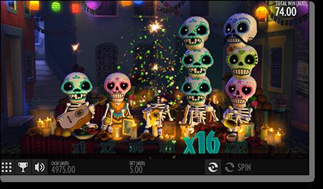 Esqueleto Explosivo Slots - Play Thunderkick Games for Money