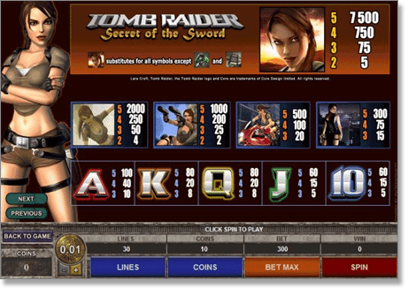 Tomb Raider real money video slot