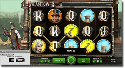 Steam Tower slots gameplay