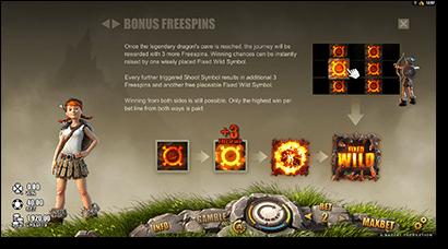 Dragon's Myth free spins and bonuses