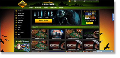 G'Day Casino's new and updated site interface