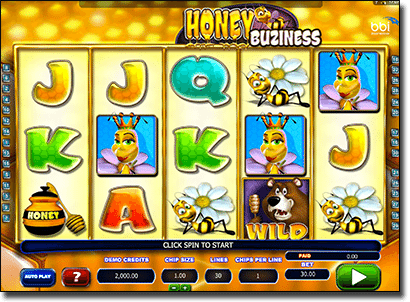 Play Honey Buziness pokies for real money online