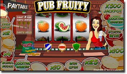 Play Pub Fruity fruit slots online