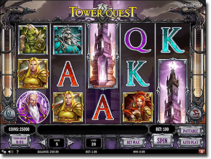 Play Tower Quest video slots