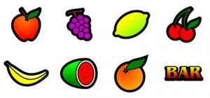 Classic fruit slot symbols