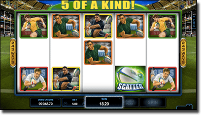 Rugby Star - new online pokies at All Slots