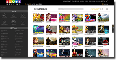Slots Million - Best pokies specialist site for online players