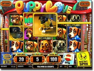 Puppylove animal-themed pokies