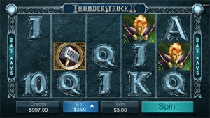 Thunderstruck pokies game