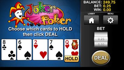 Mobile joker poker in AUD