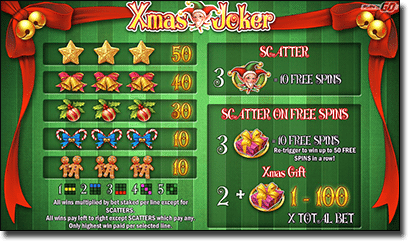 Xmas Joker pokies free spins and bonus games
