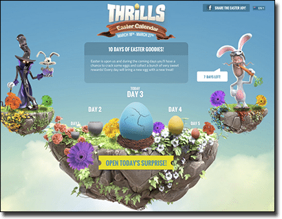 Thrills Casino 2016 Easter bonuses and rewards