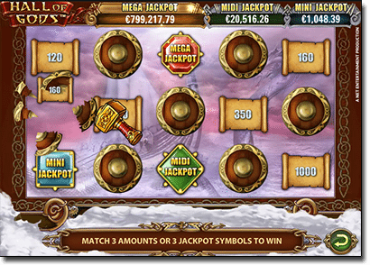 Hall of Gods progressive jackpot pokie