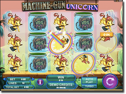 Machine Gun Unicorn pokies by Genesis Gaming