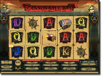 Cannon Ball Bay pokies by Genesis Gaming