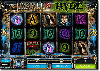 Jekyl and Hyde real money pokies