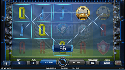 Football: Champions Cup pokies by NetEnt at Thrills.com