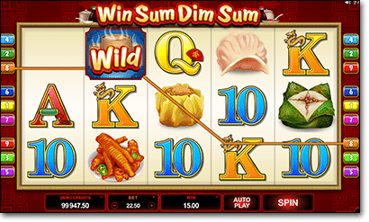Win Sum Dim Sum pokies by Microgaming