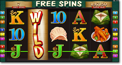 Free spins and wild symbol in Win Sum Dim Sum pokies