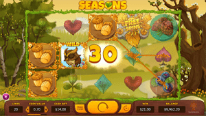 Seasons pokies game