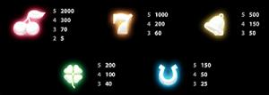 NRVNA pokies symbols
