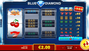 Blue Diamond three-reel slot