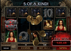 Immortal Romance pokies screenshot
