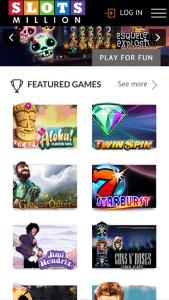Slots Million mobile