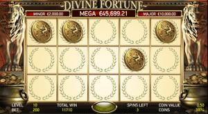 Divine Fortune progressive jackpot