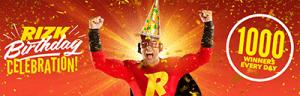 Rizk 1st birthday bonus