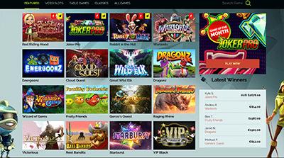 Wixstar Casino desktop